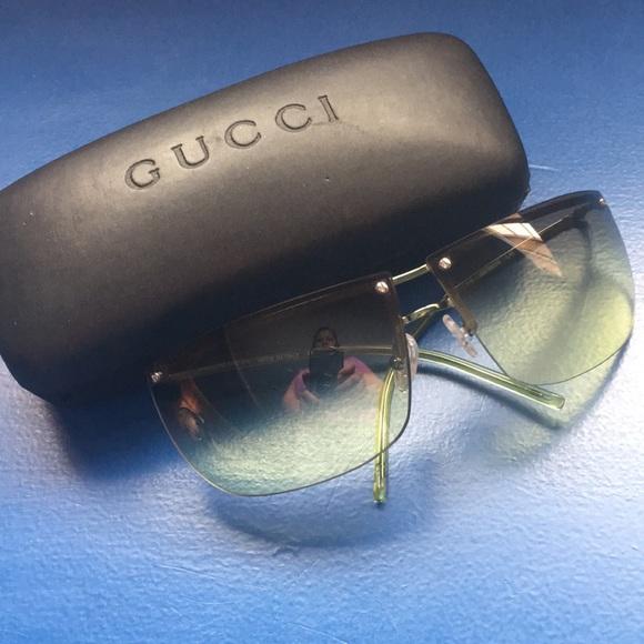 53ede720fec1 Gucci Accessories | Green Jade Rimless Sunglasses New 1152652 | Poshmark